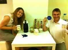 Tea time with Lourdes and Xavi ! #teatime #coworking #graciaworkcenter