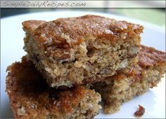 simple-banana-bars -  A MUST try!  I make these all the time and they are very good and SIMPLE.  I double the recipe and put the batter in a cookie sheet.  Simple and Delish!!!!
