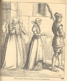 "Caption: ""Lady Jane Grey On Her Way To Execution"""