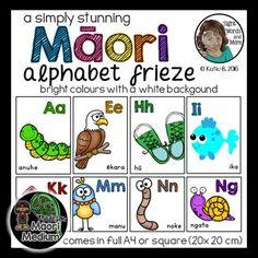 Maori Bright Pictures, Maori Art, Black Backgrounds, Alphabet, Language, Posters, Colours, Alpha Bet, Languages