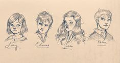 Pevensies by the_land_of_narnia Chronicles Of Narnia Books, Lunar Chronicles, Fanart, Character Art, Character Design, Narnia 3, Edmund Pevensie, Harry Potter, Prince Caspian
