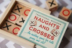 Wooden Box of Noughts & Crosses - a great little retro box for kids to play with at weddings. Perfect ice breaker too for the kids! Quirky Wedding, Unique Wedding Favors, Unique Weddings, Alternative Wedding Inspiration, Flower Girl Gifts, Ice Breakers, Kids Boxing, Traditional Wedding, Wooden Boxes