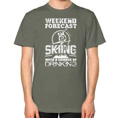 Skiing LM Unisex T-Shirt (on man)