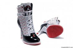 women jordan shoes | Nike New Women Air Jordan High Heels Shoes Whtie Red Black .