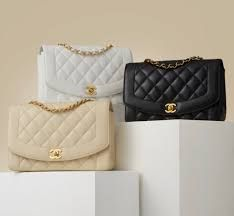 Fit for Royalty: The Chanel Diana Flap Bag- What goes around that comes around - This bag comes with its curved front panel and wide bordered quilting, is as iconic as it's fashion forward-a true classic style with enough of a twist to always appear fresh and different. -  #chanelbag #wardrobestylist #personalshopper #personalstylist #outfitshare #styletips #fashiontips #fashionstyling #outfitinspirations # #parisianstyle #madeinparis #chaneladdict #stylists White Chanel Bag, Chanel Bag Classic, Vintage Chanel Bag, Vintage Bags, Chanel Black, Black And White Bags, Vintage Louis Vuitton, Luxury Bags, Balenciaga City Bag
