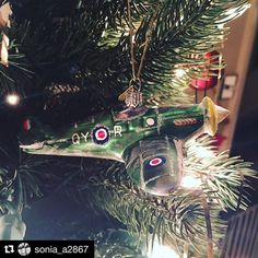 Thanks for sharing 😊 we're so pleased you love your Spitfire! with ・・・ Our new favourite Christmas decoration. because we are aviation nerds Christmas Tree Ornaments, Christmas Decorations, Holiday Decor, Thanks For Sharing, Christmas Is Coming, Smile Face, Nerd, Thankful, Hand Painted