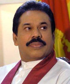 The President of Sri Lanka: Mahinda Rajapaksa