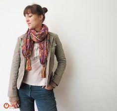 DIY Tassels scarf by Ama Ryllis