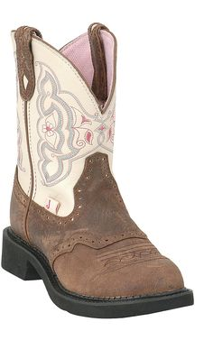Justin® Ladies Gypsy™ Collection Boots Barnwood Brown w/ Cream Justin Cowgirl Boots, Cowboy Boots Women, Western Boots, Cowboy Hats, Head Over Boots, Boots With Leg Warmers, Fatbaby Boots, Gypsy Boots, Horse Boots