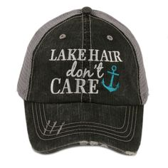 a93f1d9b2b92a Look at this Katydid Collection Gray  Lake Hair Don t Care  Trucker Hat on  today!