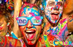 Get ready for the world's largest paint party!! Life in Color is April 4th at the Times Union Center