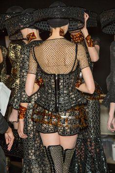 Backstage at Alexander McQueen, Spring 2013 - Paris Fashion Week.