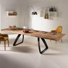 Loft Esstisch mit Eiche furniert verlängerbar | Küche und Esszimmer > Esstische und Küchentische > Esstische | Holz | Holzwerkstoff | Basilicana