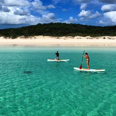 Where to SUP in Queensland Photo by @enzosonthebeach. Stand up Paddle Boarding near Fraser Island #thisisqueensland