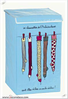 "Original cesto para la ropa sucia ""Calcetines"" - WWW.DECORATECA.COM"