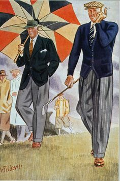 Laurence Fellows (1885-1964) - Men's Fashion Illustration, 1930's