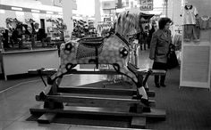 Blacklers Rocking Horse now in the museum, used to love going on this as a small child.