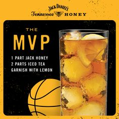 This round's most valuable pour. #JackDaniel's #JackHoney #whiskey #drinkrecipe #cocktail #basketball #march