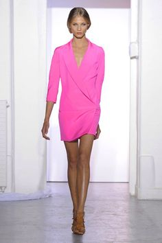 pink shirtdress