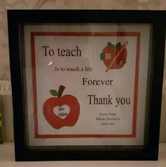 A gift for the teacher.  Made by Diane Greaves