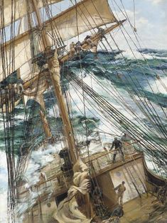 View Shortening sail ahead of the gale by Montague Dawson on artnet. Browse upcoming and past auction lots by Montague Dawson. Montague Dawson, Old Sailing Ships, Ship Drawing, Ship Paintings, Boat Art, Boat Painting, Wooden Ship, Nautical Art, Ship Art