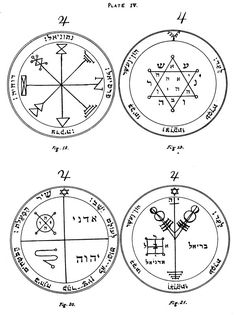 +solomons seals and demons | Figure 20 — The Third Pentacle of Jupiter — This defends and ...