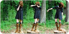 knee high fringe boots