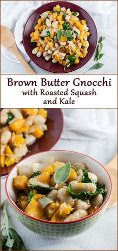 Brown Butter Gnocchi with Roasted Squash and Kale - Seasoned Sprinkles Pumpkin Recipes, Fall Recipes, Easy Dinner Recipes, Easy Meals, Weeknight Meals, Dinner Ideas, Casserole Recipes, Pasta Recipes, Chicken Recipes