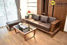 Bộ sofa gỗ óc chó cho phòng khách nhỏ - SFG017