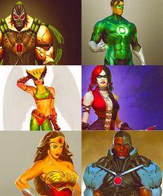 Injustice Gods Among Us Concept Art