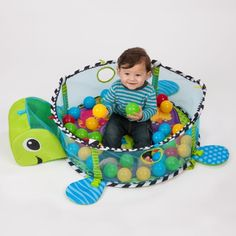 A turtle who has a ball pit on his back instead of a typical shell. | 22 Awesome Products From Amazon To Put On Your Wish List