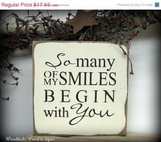 On Sale Valentine's Day Wooden Sign / So Many of My by Woodticks, $15.26