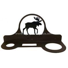 Village Wrought Iron Moose Hair Dryer Rack- Cabin Decor
