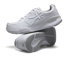 Kinetic - Women's Fitness Walking Shoes for Plantar Fasciitis - Nightingale White Leather