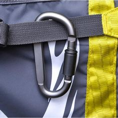 Hiking D Shaped Carabiner Clip Keyring Karabiner Hook Key Carrier Opener LA