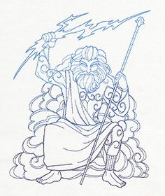 Greek Gods - Zeus design (UT9109) from UrbanThreads.com