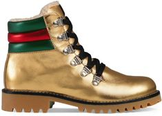 Children's metallic leather boot with eco fur #ad