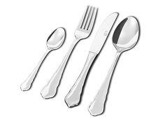 Chippendale-aterimet Lahjapakkaus. Sisältö: 6 kpl kahvilusikka, 6 kpl ruokalusikka, 6 kpl ruokahaarukka, 6 kpl ruokaveitsi.