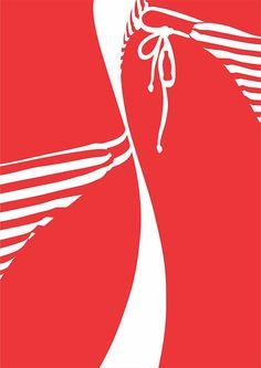 ビキニ女性のイラストで訴求 コカ・コーラ夏広告 | Fashionsnap.com
