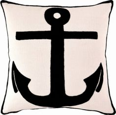 Fresh American Admiral Ivory & Black Indoor / Outdoor Pillow