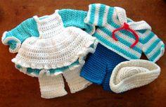 Vintage Crochet Raggedy Ann & Andy Doll Clothes Set - Never Worn Vintage Handmade Crochet Baby Doll Clothes...  This pair of handmade crochet
