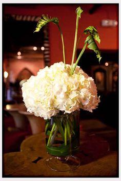 Wedding Flowers, White Hydrangea Flower Arrangement: hydrangea flower arrangements