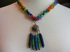Soft Jewelry Necklace Bright sparkling fiber bead by SoftJewelry