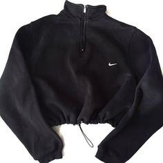 Image of Reworked Nike Mockneck Crop Sweatshirt