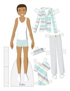 Family at Easter Paper Dolls - ROBIN {Dad} by Julie Matthews from Paper Doll School 3 of 4