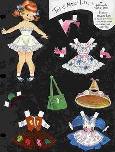 "Hallmark Cards: ""This is Nancy Lee"" / 1950s (Ephemera: Vintage Paper Doll Greeting Cards - The Vintage Village)"