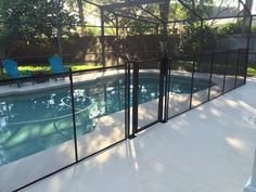 Premier Pool Safety Fence - We install pool fence gates for safe, and easy access to the swimming pool. #BabyBarrier #SwimmingPool #PoolFence