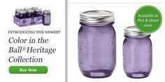 new purple heritage collection jars from ball