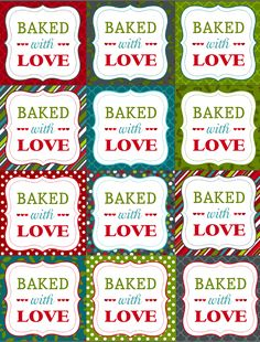 Free printble Christmas Labels for your homemade baked goods