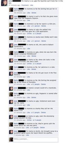 Harry Potter funnies yo momma